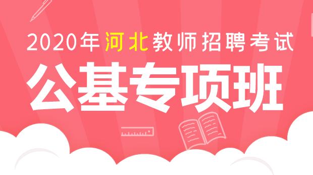 2020年河北招教公共基础专项班